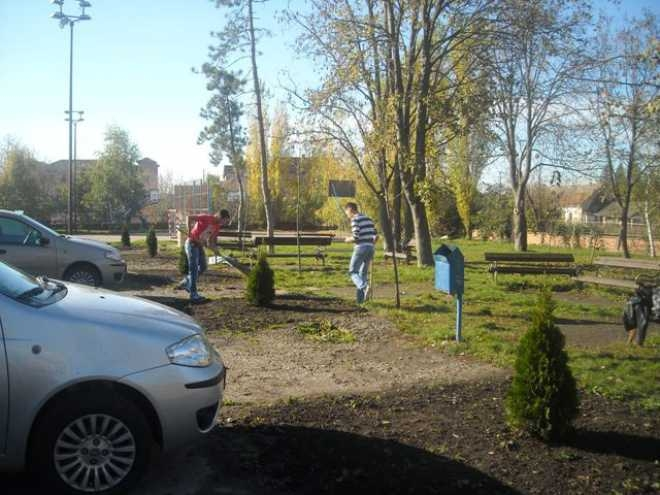 Акција озелењавања и уређења школе и околине